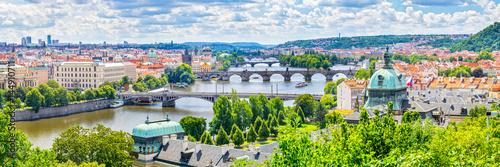 Fotografia Bridges of Prague and the River Vltava  Czech Republic