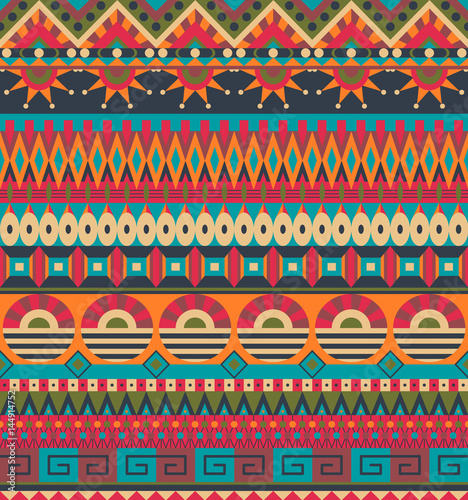Ethnic seamless pattern Canvas