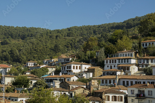 Aluminium Prints New Zealand Traditional village in turkey, name of Sirince. Houses and roofs, in woods