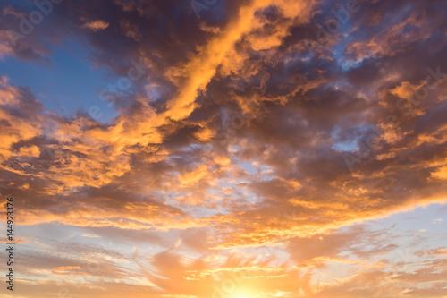 Beautiful Sunset Sky Wallpaper Mural