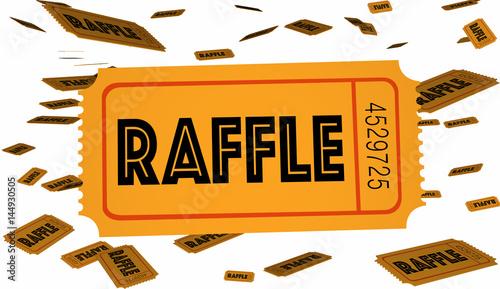 Cuadros en Lienzo Raffle Tickets Contest Enter Now Win Big 3d Illustration