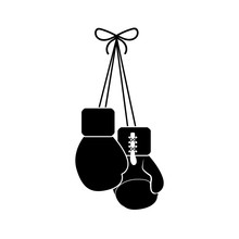 Contour Boxing Gloves Hanging Icon