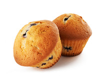 Tasty Muffins Isolated On White Background