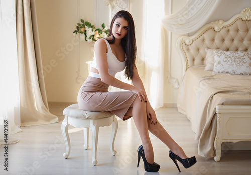 Beautiful Tall Girl In A Sexy Short Skirt - Buy This Stock Photo And Explore Similar -2564