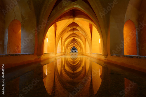 Fotografie, Obraz Royal bathroom in Alcazar - Seville, Spain
