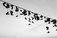 Shoe Tossing - A Lot Of Old Sh...
