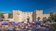 The Damascus Gate timelapse hyperlapse is one of the most crowded city exits in Jerusalem.