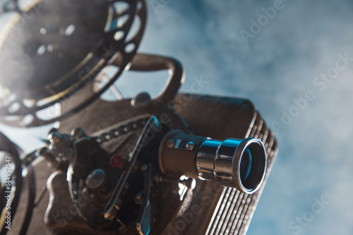 Old style movie projector, close-up. - 144957547