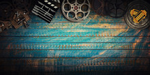 Cinema Concept Of Vintage Film...