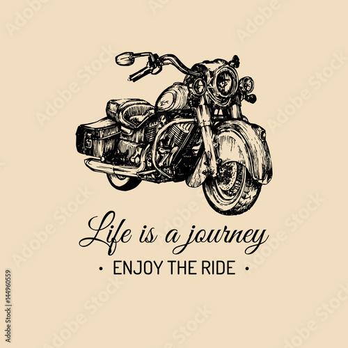 Life is a journey, enjoy the ride inspirational poster Fototapeta