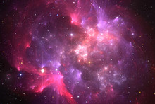 Space Background With Purple R...
