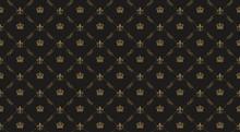 Interior Design. Black Royal Background Pattern