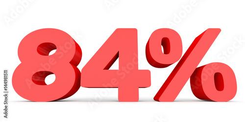 Fotografia  Eighty four percent off. Discount 84 %.