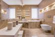 Marble beige bathroom
