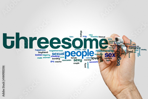 Foto  Threesome word cloud
