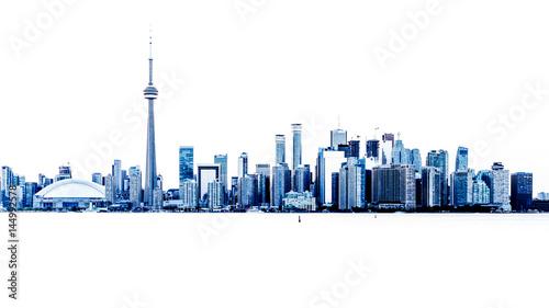 Deurstickers Toronto Toronto Skyline Überbelichtung