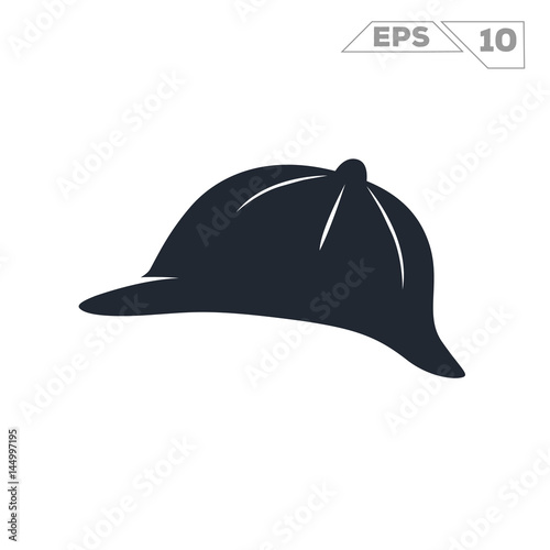 sherlock holmes hat silhouette illustration vector design фототапет