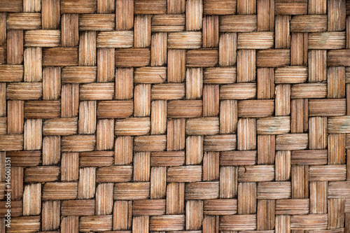 Fotografía  Closed up of brown color wooden weave texture background