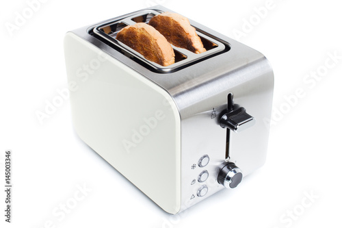 toaster with toast - isolated