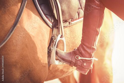 Getting on the horse Fototapeta