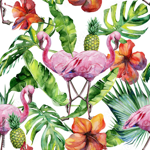 akwareli-ilustracja-tropikalny-rozowy-flaming-ptaka-modna-grafika-z-motywem-tropic-summertime-egzotyczna