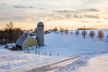 Snowy Country Land In Southern York County In Pennsylvania