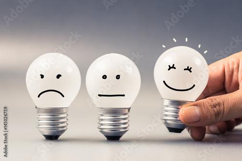 Fotografie, Obraz  Satisfaction Light Bulb
