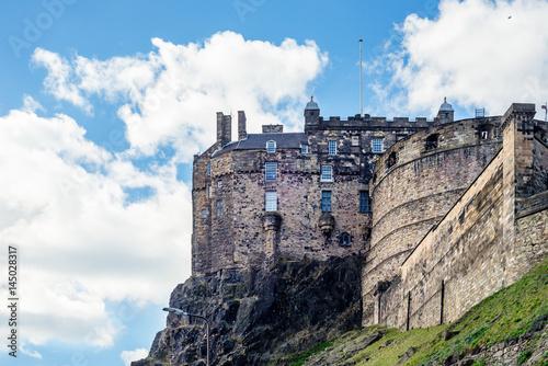 Obraz na dibondzie (fotoboard) Zamek w Edynburgu na Castle Rock w Edynburgu w Szkocji