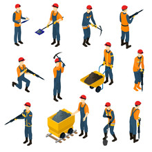 Isometric Miners Set