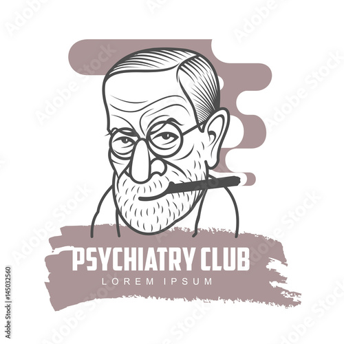 Fotografija  Cartoon caricature portrait of Sigmund Freud