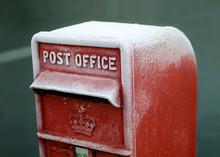 Frozen British Traditional Post Office Mailbox