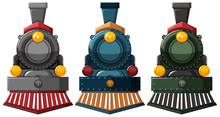 Steam Engine Designs In Three Colors
