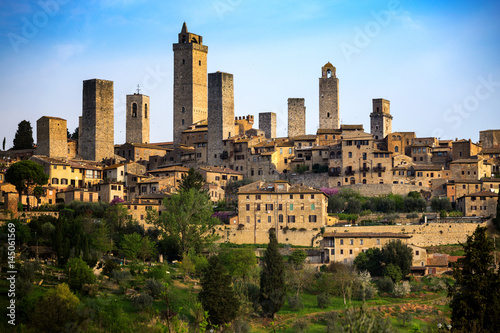 Fotografia, Obraz old town San Gimignano