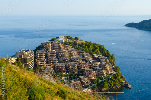 In de dag Mediterraans Europa Elite residential complex Dukley Gardens on Zavala peninsula, Budva, Montenegro