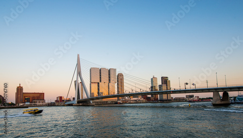 Keuken foto achterwand Rotterdam Erasmus bridge Rotterdam