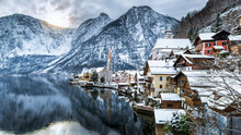 Winter View Of Hallstatt , Hal...