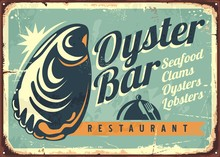 Oyster Bar Creative Retro Sign...