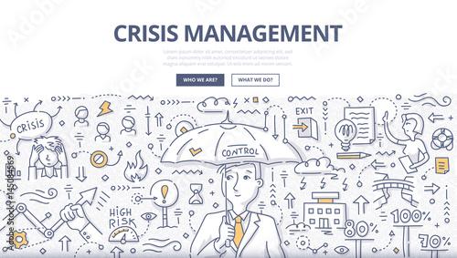 Fotografía  Crisis Management Doodle Concept