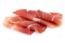 Pork Ham Slices Isolated On Wh...