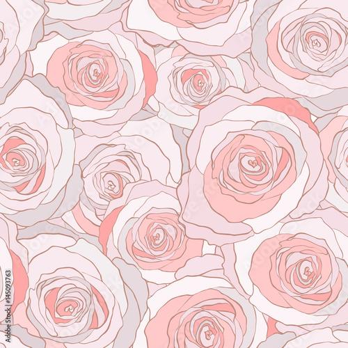 Materiał do szycia Róże bez szwu wektor wzór