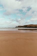 Sand Beach At Farr Bay, Bettyhill, Sutherland, Scotland.