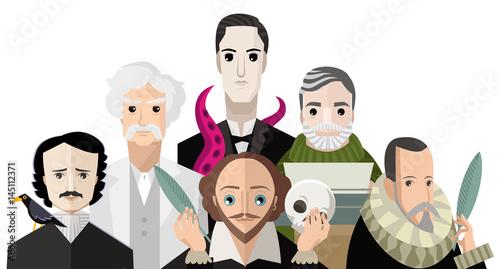 Fotografija great six writers from all the times