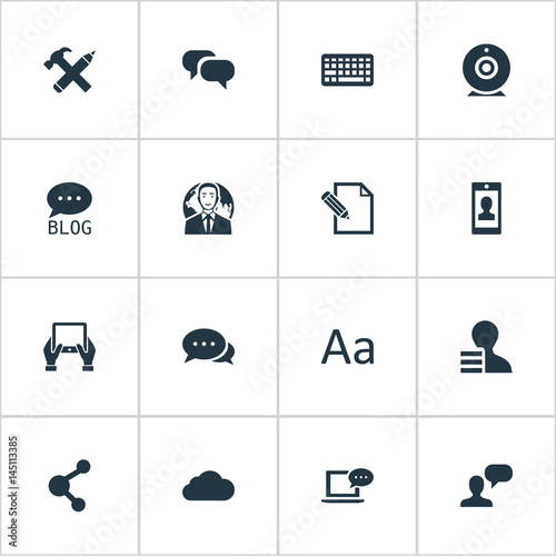 Vector Illustration Set Of Simple Newspaper Icons  Elements Site