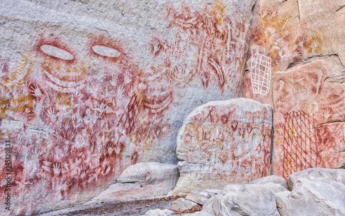 Aboriginal Rock Art, Carnarvon Gorge, Queensland, Australia Wallpaper Mural