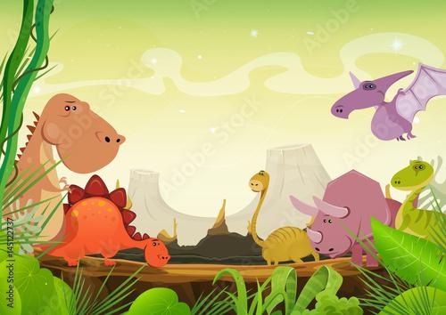 prehistoryczny-krajobraz-z-dinozaurem