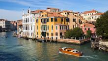 Venice Grand Canal Palazia. Italy