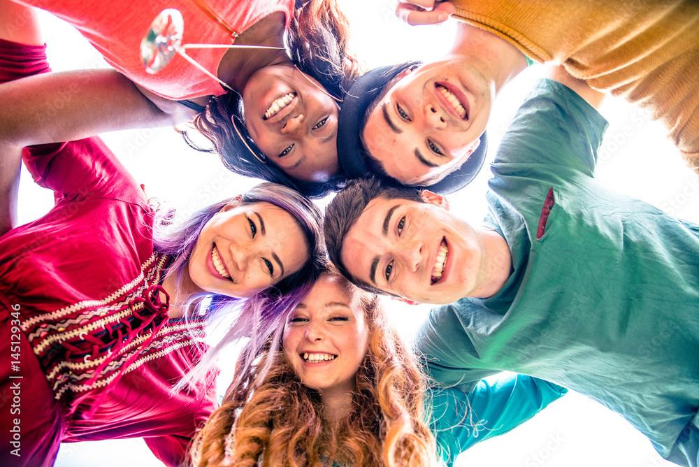 Fototapeta Friends meeting outdoors