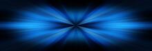 Esplosione Di Luce Blu Su Sfon...