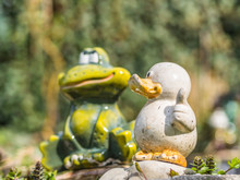 Ceramic Duck And Frog