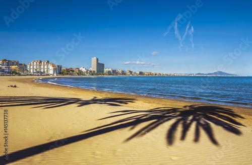 Peniscola beach on Costa del Azahar, Province Castello, Spain